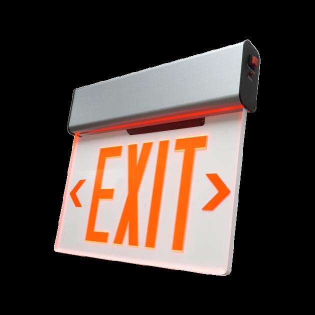 exl2 led edge lit exit sign nicor lighting Dvd Player Wiring Diagram exl2 \u2013 led edge lit exit sign