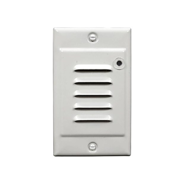 STP-10-120-WH-PC NICOR Lighting LED Step Light with Photocell Sensor and Horizontal and Vertical Faceplate White